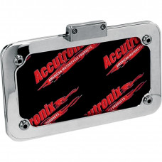 ACCUTRONIX LICENSE PLATE FRAME WITH LIGHT POLISHED