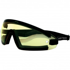 BOBSTER TRIDENT SUNGLASSES BLACK FRAME W/ YELLOW LENSES