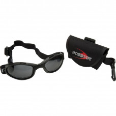 BOBSTER CROSSFIRE FOLDING GOGGLES BLACK FRAME W/ ANTI-FOG SMOKED LENSES