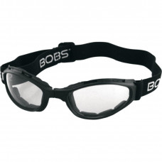 BOBSTER CROSSFIRE FOLDING GOGGLES BLACK FRAME W/ ANTI-FOG CLEAR LENSES