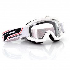 3201 RACE LINE OFFROAD GOGGLES WHITE LENS CLEAR