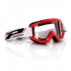 3201 RACE LINE OFFROAD GOGGLES RED LENS CLEAR