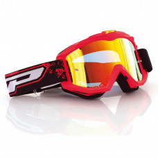 3204 FLUO MATTE OFFROAD GOGGLES FLUO RED LENS MIRRORED YELLOW
