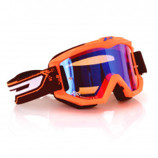 3204 FLUO MATTE OFFROAD GOGGLES FLUO ORANGE LENS MIRRORED BLUE