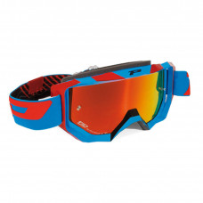3200 FLUO OFFROAD GOGGLES BLUE/RED LENS MIRRORED ORANGE