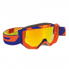 3200 FLUO OFFROAD GOGGLES ORANGE/BLUE LENS MIRRORED YELLOW