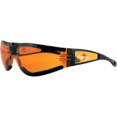 BOBSTER SHIELD II SUNGLASSES BLACK FRAME W/ AMBER LENSES