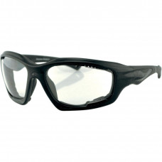 BOBSTER DESPERADO SUNGLASSES BLACK FRAME W/ ANTI-FOG CLEAR LENSES