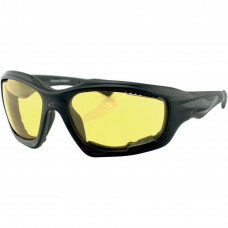 BOBSTER DESPERADO SUNGLASSES BLACK FRAME W/ ANTI-FOG YELLOW LENSES