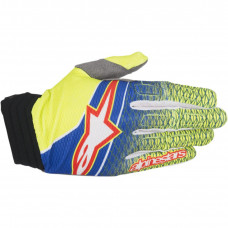AVIATOR S7 SHORT CUFF GLOVES S BLUE/YELLOW FLUO/RED