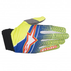 AVIATOR S7 SHORT CUFF GLOVES 2XL BLUE/YELLOW FLUO/RED