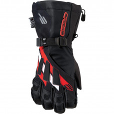 GLOVES LONG CUFF MERIDIAN TEXTILE RED 2X-LARGE