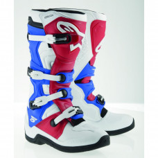 BOOT TECH 5 MICROFIBER WHITE / RED / BLUE 15