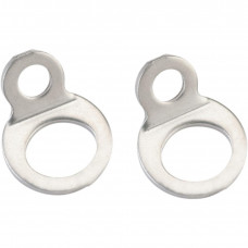 BOLT-ON STRAP RINGS SILVER