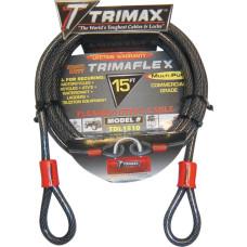 TRIMAX CABLE-LOCK TRIMAFLEX QUADRA BRAID DUAL LOOP 15'