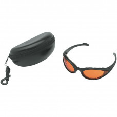 BOBSTER FOAMERZ SUNGLASSES BLACK FRAME W/ ANTI-FOG AMBER LENSES